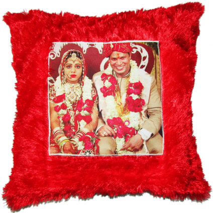Fur Cushion Pillow Personalized With Photo